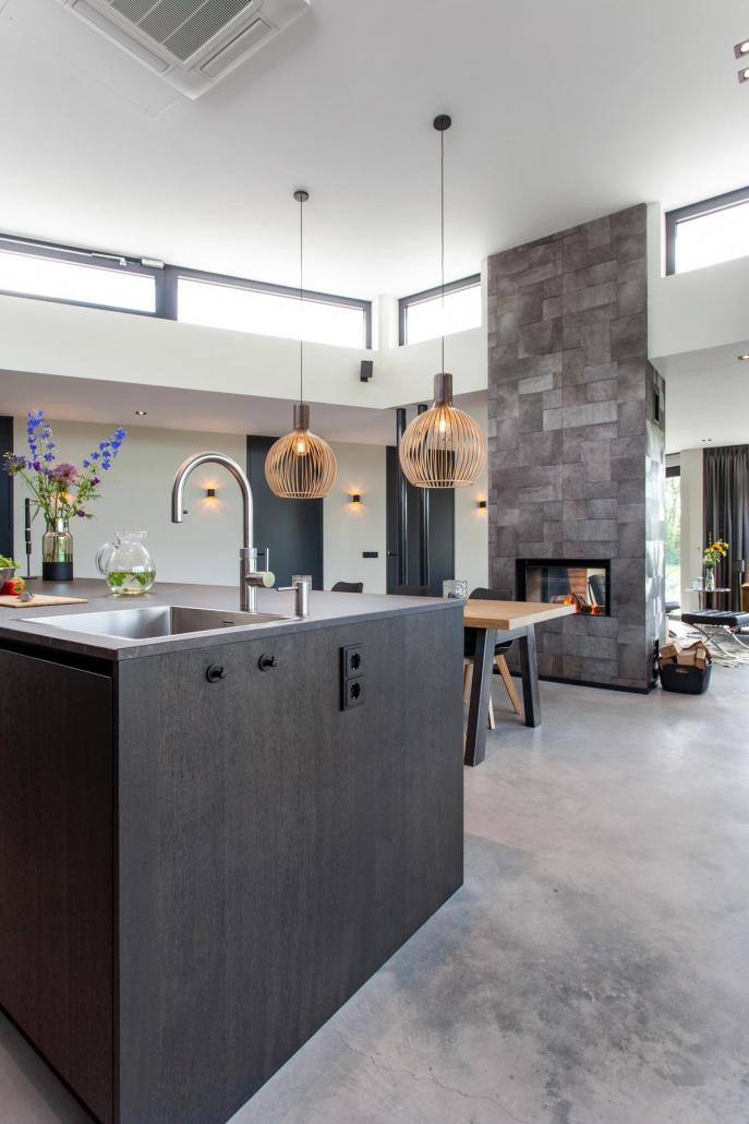 Stoere keuken donker hout Beda Keukens