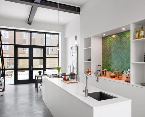 Strakke keuken wit modern Beda Keukens